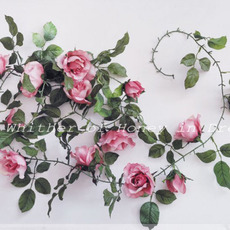 Dreamlike Villatic Green Rose Leaves Vines - Up to 2m
