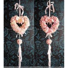 Dreamlike Villatic Curling Heart-shaped Big Flower Hanging