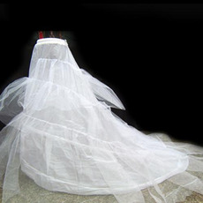 Chapel Train A-Line Wedding Petticoats