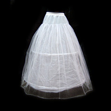 White 2 Layered Wedding Petticoats