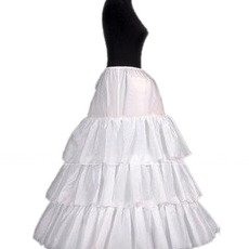 3 Bone Hoop Tulle Wedding Petticoats