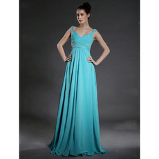Discount Custom Sweetheart Floor Length Chiffon Bridesmaid Dresses