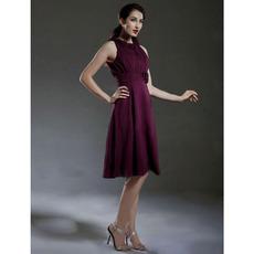 2017 Style Custom Sleeveless Knee Length Chiffon Bridesmaid Dresses