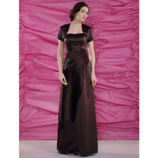 A-Line Sweetheart Floor Length Satin Mother of the Bride Dresses with Jackets