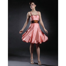 Discount A-Line Spaghetti Straps Knee Length Summer Bridesmaid Dresses