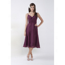 Discount Spaghetti Straps Sweetheart Short Chiffon Bridesmaid Dresses