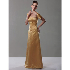Winter Strapless Floor-Length Satin Bridesmaid Dresses with Wraps