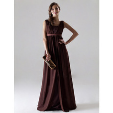 Empire V-Neck Sleeveless Floor-Length Chiffon Bridesmaid/ Mother of the Bride Dresses