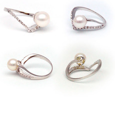 White 7.0mm Freshwater Pearl Ring