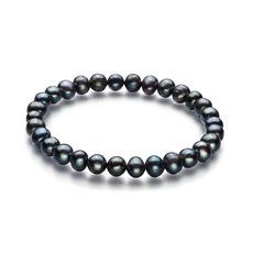 Black 6-7mm Freshwater Pearl Bracelet