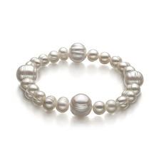 White 6-11mm Freshwater Pearl Bracelet