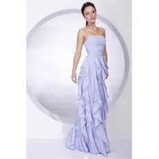 Sheath Long Evening Dress / Affordable Chiffon Prom Dress