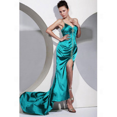 Sheath Taffeta Evening Dress/ Long Sweetheart Prom Dress