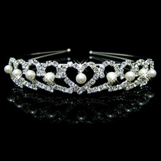 Alloy With Pearl Bridal Wedding Tiara