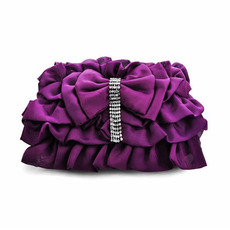 Satin Evening Handbags/ Clutches/ Purses with Bowknot