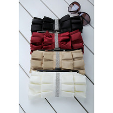 Satin Evening Handbags/ Clutches/ Purses with Rhinestone