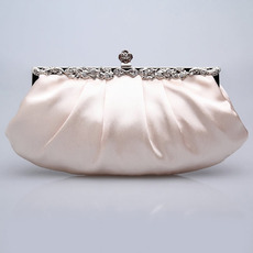 Satin Evening Handbags/ Clutches/ Purses with Rhinestone