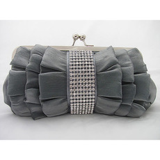 Silk Evening Handbags/ Clutches/ Purses with Rhinestone