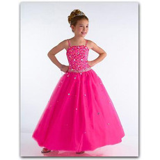 Pretty Discount Spaghetti Straps Sequin Easter/ Flower Girl Dresses