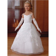 2018 Ball Gown Spaghetti Straps First Communion Dresses with Jackets
