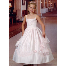 Ball Gown Spaghetti Straps First Communion Dresses with Jackets