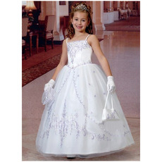 Adorable Ball Gown Spaghetti Straps First Communion Dresses with Jackets