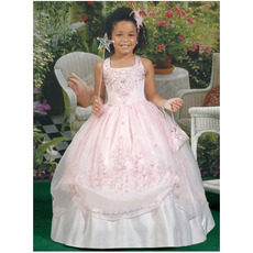 Discount Custom Ball Gown Full Length Taffeta First Communion Dresses