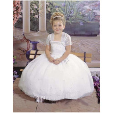 Affordable Ball Gown Organza First Holy Communion Dresses with Jackets
