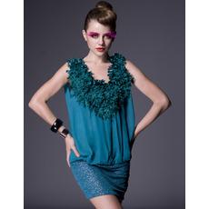 Casual Sleeveless Chiffon Short Holiday Dresses
