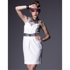 Affordable Column Short Holiday Dresses/ Chic Ivory Organza Homecoming Dresses