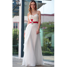 Informal Sheath Spaghetti Straps Floor Length Chiffon Wedding Dresses