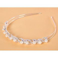 Alloy with Pearls First Communion/ Flower Girl Tiaras