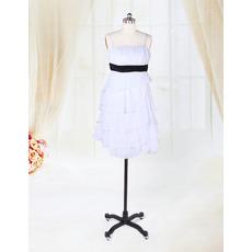 Custom Empire Tiered Chiffon Short Beach Wedding Dresses