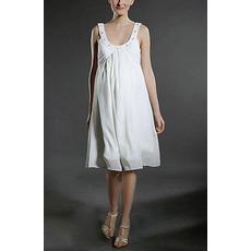 Custom Knee Length Chiffon Maternity Wedding Dress for Pregnant Brides