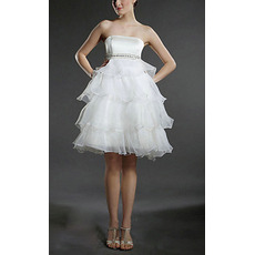 Discount Strapless Short Maternity Wedding Dresses for Pregnant Brides