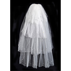 4 Layers Fingertip with Sequin Ivory Wedding Veils
