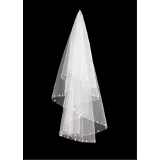 1 Layer Elbow with Sequin Ivory Wedding Veils