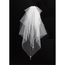 4 Layers Flyaway with Pears Ivory Wedding Veils
