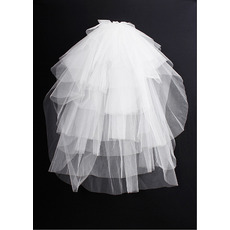 8 Layers Blusher Ivory Wedding Veils