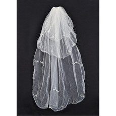 3 Layers Ballet with Embroidery Ivory Wedding Veils