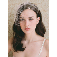 Elegant Tulle White Fascinators/ Birdcage Veils for Brides
