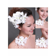 Gorgeous White Flowers/ Corsages/ Headpieces for Brides