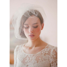Gorgeous White Tulle Fascinators/ Wedding Hats/ Birdcage Veils for Brides