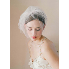 Elegant White Tulle Fascinators/ Headpieces/ Birdcage Veils for Brides