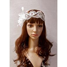 Elegant White Lace Headbands/ Headpieces for Brides
