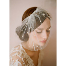 Stunning White Tulle Fascinators/ Bridal Veils for Brides