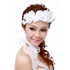 Gorgeous White Silk Tulle Fascinator/ Neck Ornament for Brides