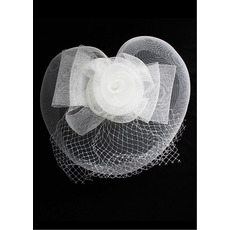 Stunning White Netting Fascinator/ Bridal Veil for Brides