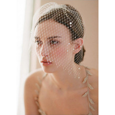 Gorgeous White Netting Fascinators/ Bridal Veils for Brides