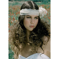 Chic White Lace Headband/ Headpiece for Brides